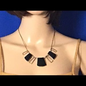 Jewelry - Gold Necklace with Black Accents